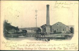 """1907, Picture Card """"Power Station, East London S.A."""" Sent To Altona, Germany - Capo Di Buona Speranza (1853-1904)"""