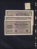 Allemagne - Reichsbanknote - Lot De 3 Billets De 1000 Mark Dont Les N° De Série Se Suivent Bc 356362  à 356364 - [ 3] 1918-1933 : République De Weimar