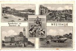 Westende Zichtkaart - Carte Avec Vues. (Middelkerke). - Westende