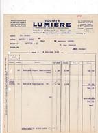 Rare Facture 1936 Bobines Société Lumière, 82 Rue De Rivoli, Paris - Zubehör & Material