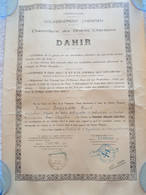 Ensemble De 2 Diplomes De Chevalier De L' Ordre Marocain Du Ouissam Alaouîte Chérifien - Documenten