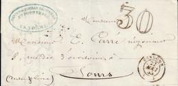 Vendome 22 08 1855  Taxe 30 - 1849-1876: Classic Period
