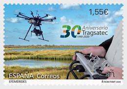 Spain 2020 Espagne 30th Ann TRAGSATEC 1990 Drone Hovering Over  Marsh 1v Mnh - Sonstige