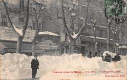 CPA Béziers Sous La Neige - Hiver 1914 - 2 Côté Gauche Allées - Beziers