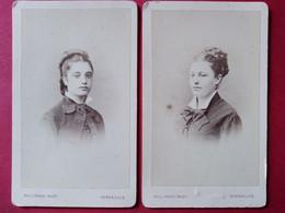 Photos CDV - Deux Sœurs , Filles D' Édouard Crousse, Inspecteur Des Forêts - Versailles - TBE - Ancianas (antes De 1900)
