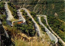Route Du Val D'Anniviers, Les Contours De Niouc (12819) * 1974 - Postautobus - VS Valais