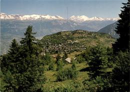 Vercorin - Vue Generale - Au Fond Les Alpes Bernoises - VS Valais