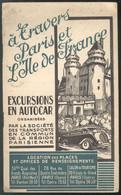 Répertoire Des Excursions En Autocar à Travers Paris Et L'Ile De France - TCRP - Paris Expo 1937 - Très Bon état - Europa
