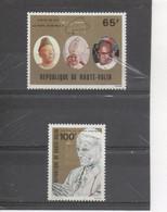 HAUTE-VOLTA  - Religion Catholique - Visite Du Pape JEAN PAUL II - Portraits De Jean Paul II, Président LAMIZANA, - Upper Volta (1958-1984)