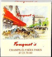 Pochette D'allumettes-Café/Restaurant FOUQUET'S (Paris 8ème)-TBE - Matchboxes