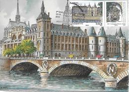 4494 - PARIS - PALAIS DE JUSTICE ET CONCIERGERIE Sur CP BD 2012N, 1er Jour Au 19-06-2010 - RARE - 2010-...