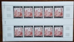 Andorre - YT N°184 - Feuille De 10 Timbres - Fresque De La Maison Des Vallées - 1967 - Neuf + COIN DATE 21.8.67 - Nuovi