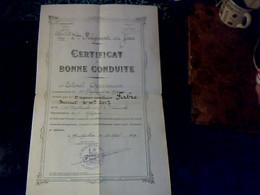 Militaria 2éme Régiment Du Génie à Montpelier Certificat De Bonne Conduite 1929 - Documenten