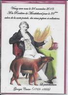 GEORGES CUVIER - Le Paléothérium  ( 1769-1869)  - Montbéliard  39e Salon De La Carte Postale  2019 - Beursen Voor Verzamellars