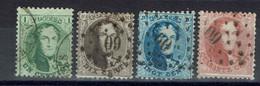 Belgique - 1863 - N° 13 C à  16 C - Oblitérés Dentelés 12,5 X 13,5 - B/TB - - 1863-1864 Medallions (13/16)