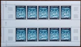 Andorre - YT N°186 - Feuille De 10 Timbres - Fresque De La Maison Des Vallées - 1967 - Neuf + COIN DATE 27.9.67 - Nuovi