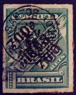 Bresil Brasil 1898 Timbre Journaux Surchargé Newspaper Stamp Overprinted Jornaes Yvert 96 O Used - Gebraucht