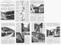 """L'INAUGURATION De La LIGNE """" NICE - CONI """"  1928 - Railway"""