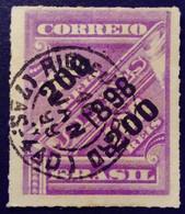 Bresil Brasil 1898 Timbre Journaux Surchargé Newspaper Stamp Overprinted Jornaes Yvert 92 O Used - Gebraucht