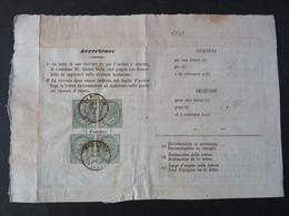 """1835 ITALIA Regno-1863- """"L 16 Londra"""" C. 5 Ricevuta Di Ritorno BERGAMO BASSA (descrizione) - 1861-78 Vittorio Emanuele II"""