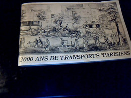 Publicité Livret Dunlop Intitulé 2000 Ans De Transports Parisiens  29 Pages Illustrées Année   1971 - Documenten