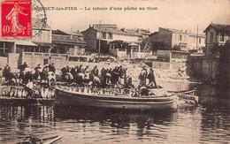 CPA SAUSSET-les-PINS - Le Retour D'une Pêche Au Thon - Francia