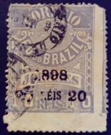 Bresil Brasil 1898 Timbre Journaux Surchargé Newspaper Stamp Overprinted Jornaes Yvert 101 O Used - Gebraucht