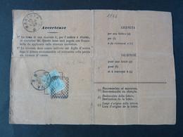 """1836 ITALIA Regno-1867- """"L 26 Londra"""" C. 20 Ricevuta Di Ritorno MANTOVA (descrizione) - 1861-78 Vittorio Emanuele II"""