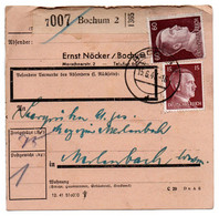Allemagne  //  Colis Postal  //   De Bochum  // 15-6-43 - Briefe U. Dokumente
