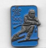 Pin' S  Fond  Bleu  Sport  J.O  CALGARY  88 - Olympic Games