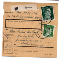Allemagne  //  Colis Postal  //   De Speyer // 20/11/43 - Briefe U. Dokumente