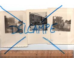 Photographie X3 Photos : C.1950 Train Locomotive Compagnie Ferroviaire Du Maroc CFM Chemin De Fer Railway Zug Bahn - Trenes