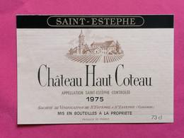SAINT-ESTEPHE ETIQUETTE CHATEAU HAUT COTEAU 1975    27/09/20/ - Bordeaux