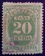 Bresil Brasil Brazil 1895 Taxe Tax Taxa Yvert 19 O Used - Gebraucht