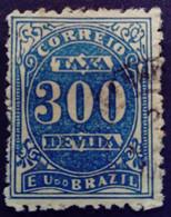 Bresil Brasil Brazil 1895 Taxe Tax Taxa Yvert 23 O Used - Gebraucht