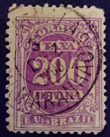 Bresil Brasil Brazil 1895 Taxe Tax Taxa Yvert 22 O Used - Gebraucht