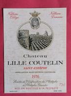 SAINT-ESTEPHE ETIQUETTE CHATEAU LILLE COUTELIN 1976  27/09/20/ - Bordeaux