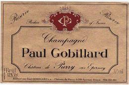 Etiquette Champagne Paul Gobillard Château De Pierry - Brut Réserve / 375 Ml - Champagner