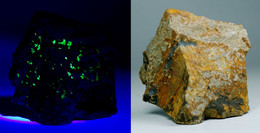 Meta-autunnite Fluoresente (Aldeia Nova, Portogallo) - Lot. S352 - Minéraux