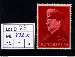 Los D79: DR Mi. 772 X ** - Neufs