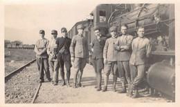 """1463 """" FOTO GENIO FERROVIERI-LOCOMOTIVA E CONVOGLIO-TERLANO""""FOTO. ORIG  ANNI 20. - War, Military"""