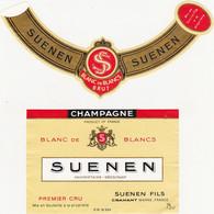Etiquette Champagne SUENEN à CRAMANT / BLANC DE BLANCS BRUT - Champagner