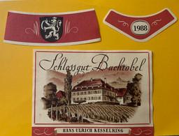 15943 - Schlossgut Buchtobel 1988 - Etiketten