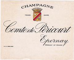Ancienne Etiquette Champagne Comte De Péricourt à Epernay - Champagner