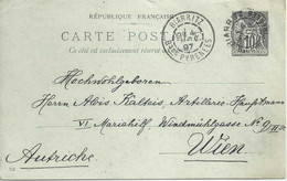 CP  Biarritz - Wien         1897 - Non Classés