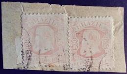 Bresil Brasil Brazil 1882 Pedro II Sur Fragment Yvert 55 O Used - Gebraucht