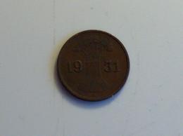 Allemagne 1 Pfennig 1931 A - [ 3] 1918-1933 : República De Weimar