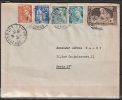FRANCE   Croix Rouge 1940 Sur Lettre    N° Y&T  460 - 1921-1960: Moderne
