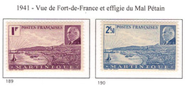 Ex Colonie Française  *  Martinique *  Poste  Série Complète  189/190  N** - Martinique (1886-1947)