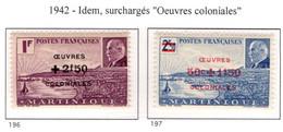 Ex Colonie Française  *  Martinique *  Poste  Série Complète  196/197  N** - Martinique (1886-1947)